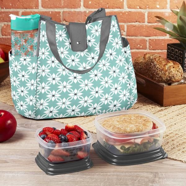 Westport Insulated Lunch Bag Set With Reusable Container And 20 Oz Fit