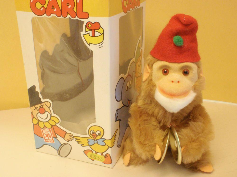 Max CARL ORIGINAL Affe mit Tschinellen zum Aufziehen im Originalkarton