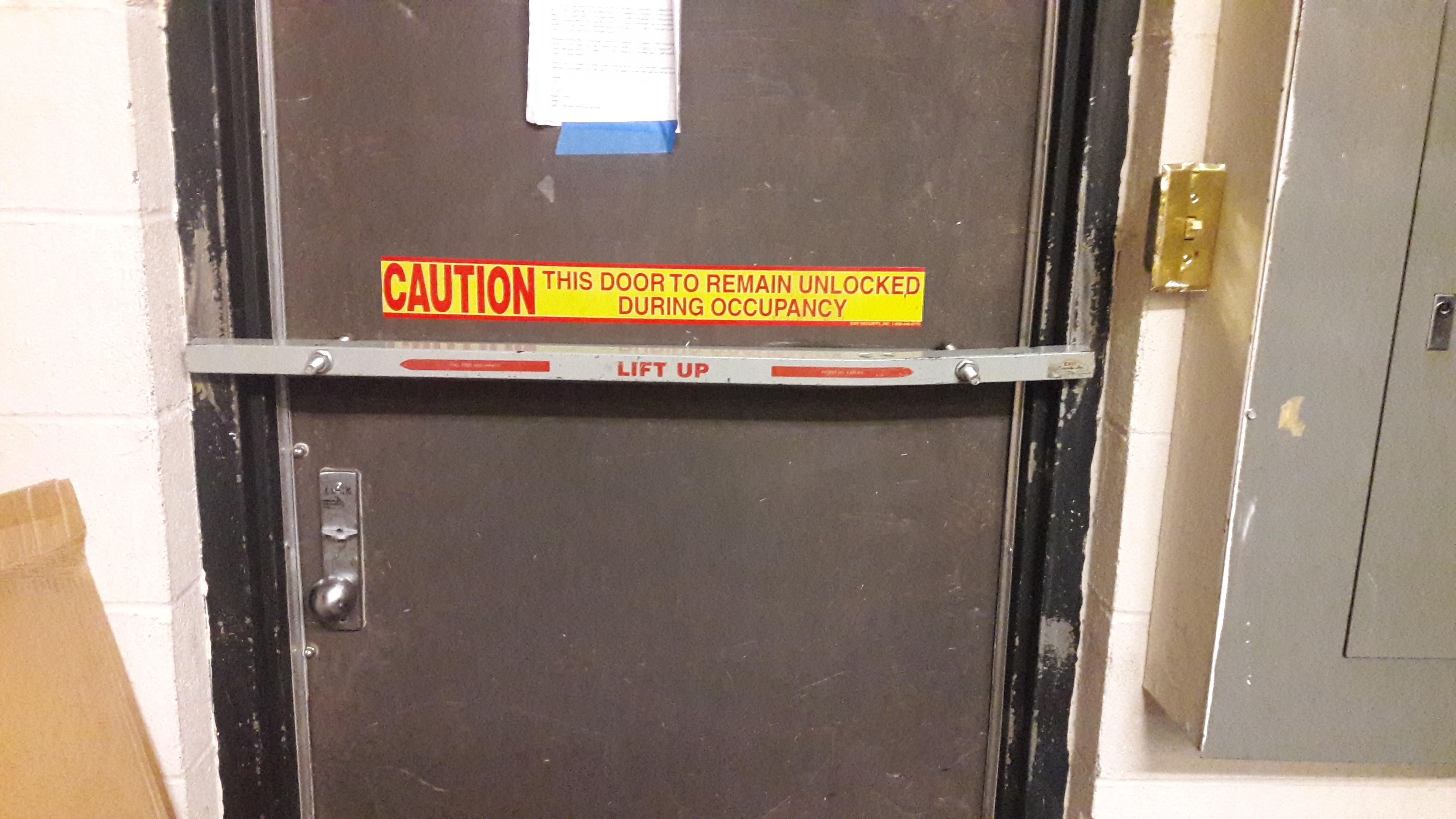 It's also locked in case you're wondering forklift osha