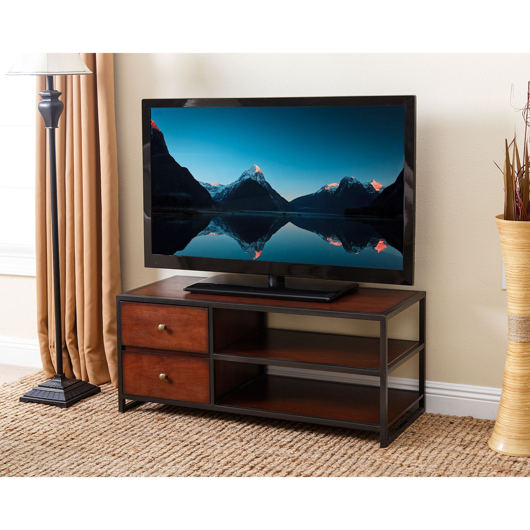 Abbyson Living Winston 42 Inch Tv Stand Products Pinterest  # Meuble Tv Wilson