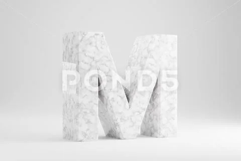 Marble 3d Letter M Uppercase White Marble Letter Isolated On White Backgroun Graphic 134087325 3d Letters Lettering Illustration