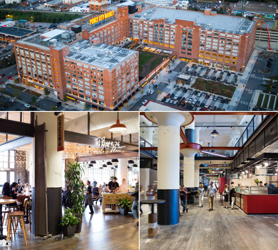 Ponce City Market Old 4th Ward Opened In 2014 In A Renovated Sears Building Restaurants Shopping Flats Rooftop Putt Pu Atlanta Beltline City House Ponce