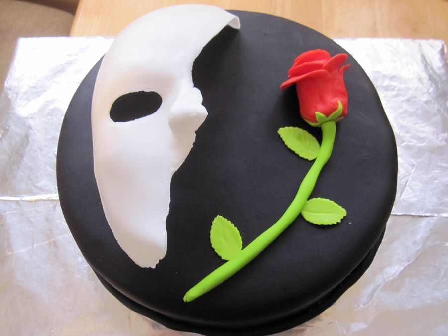 Phantom of the Opera Birthday Cake Imageck Cake ideas