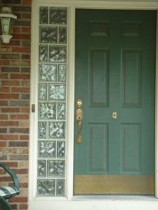 Entry Door Sidelights With Gl Block Can Add Security Privacy Style Reduce Costs The Staggered Design Is Fun To Look At As Well
