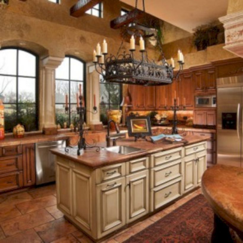 Tuscany style italian kitchen design ideas 05