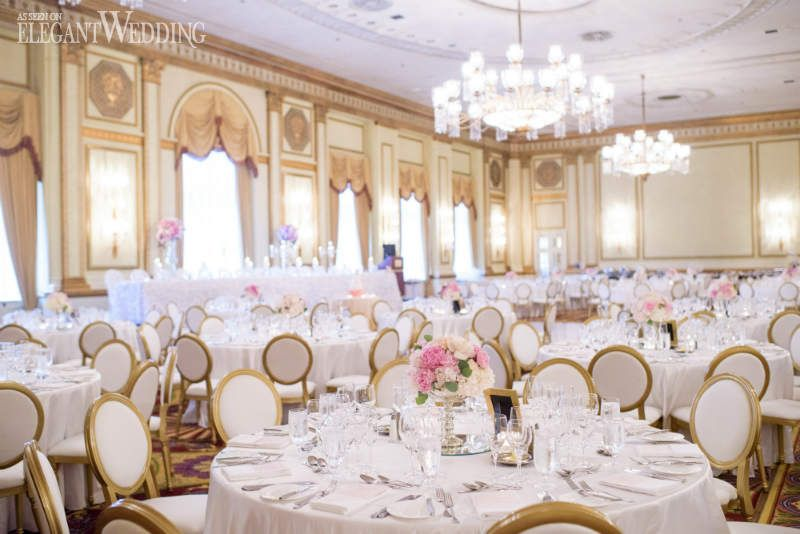 After Visiting Over  Venues To Host A Classic Wedding With Blush And Gold Diana And Tristan Decided On The Majestic Fairmont Hotel Vancouver