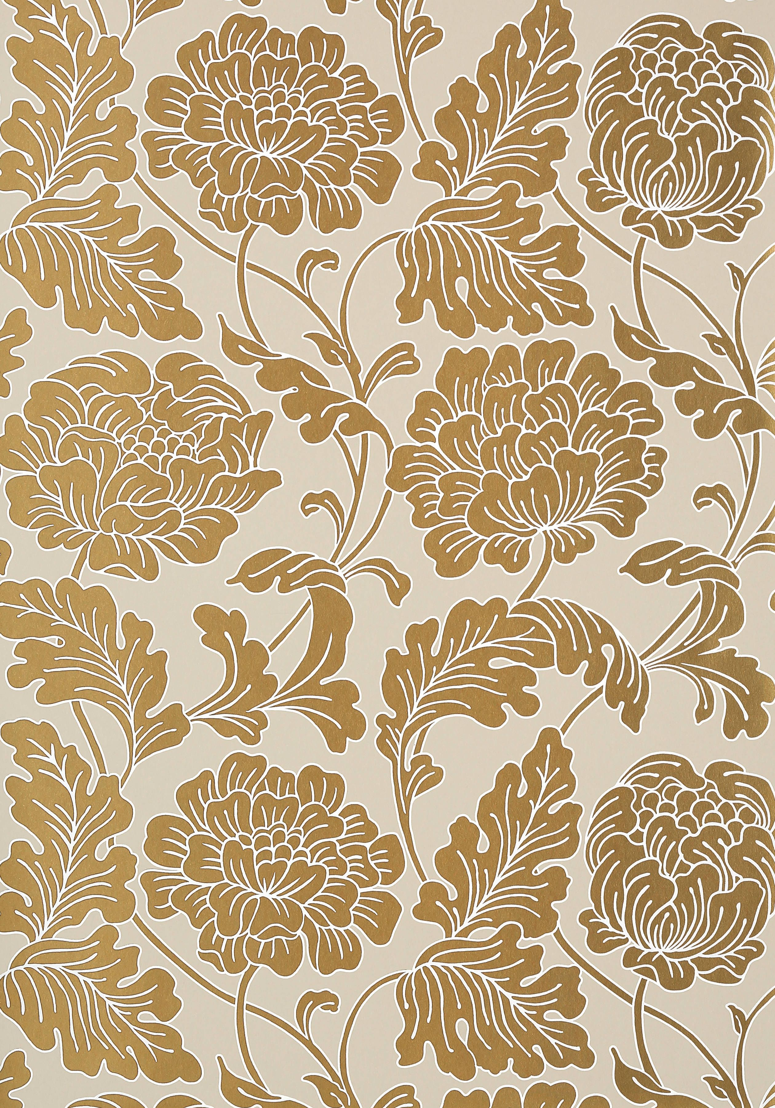 Hathaway Metallic Gold On Linen T10077 Collection Neutral