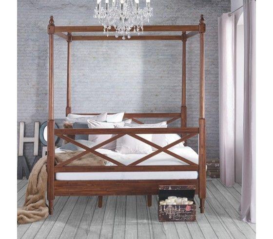Romantisches Himmelbett im Kolonialstil - Schlafgenuss wie im - schlafzimmer im kolonialstil
