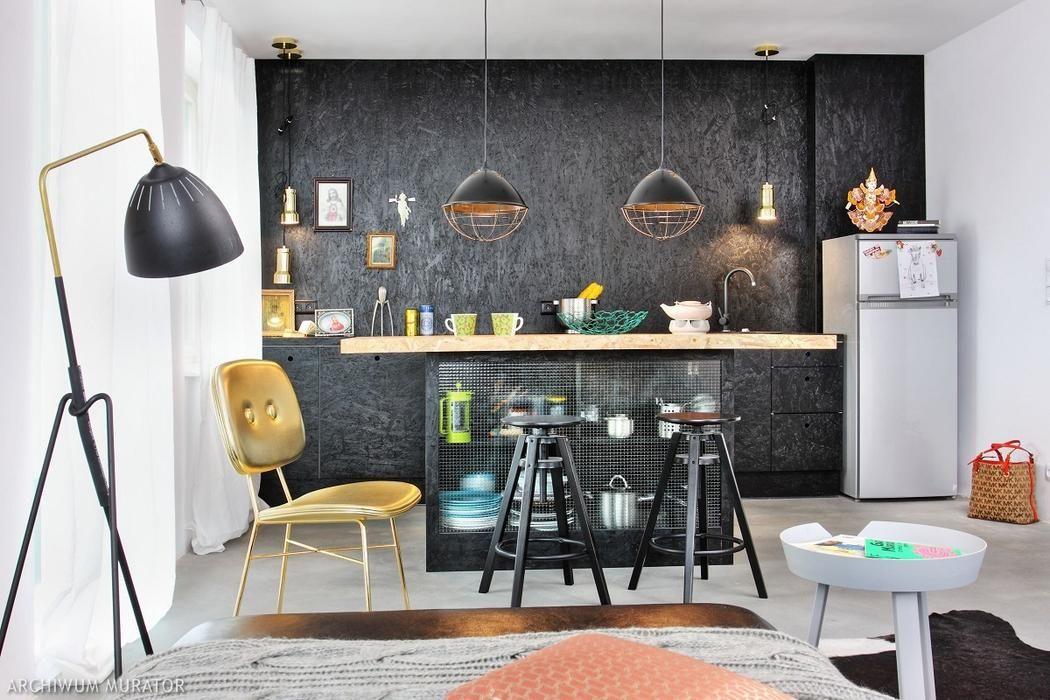 Aranzacja Mieszkania Wykonczonego Plyta Osb I Cegla Dziurawka Casas De Metal Decoracion De Interiores Interiores
