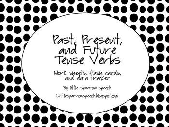 Verbs: Past, Present, and Future: Worksheets, Flash Cards