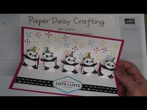 Stampin Up Party Pandas Pop Up Card Youtube Birthday Cards