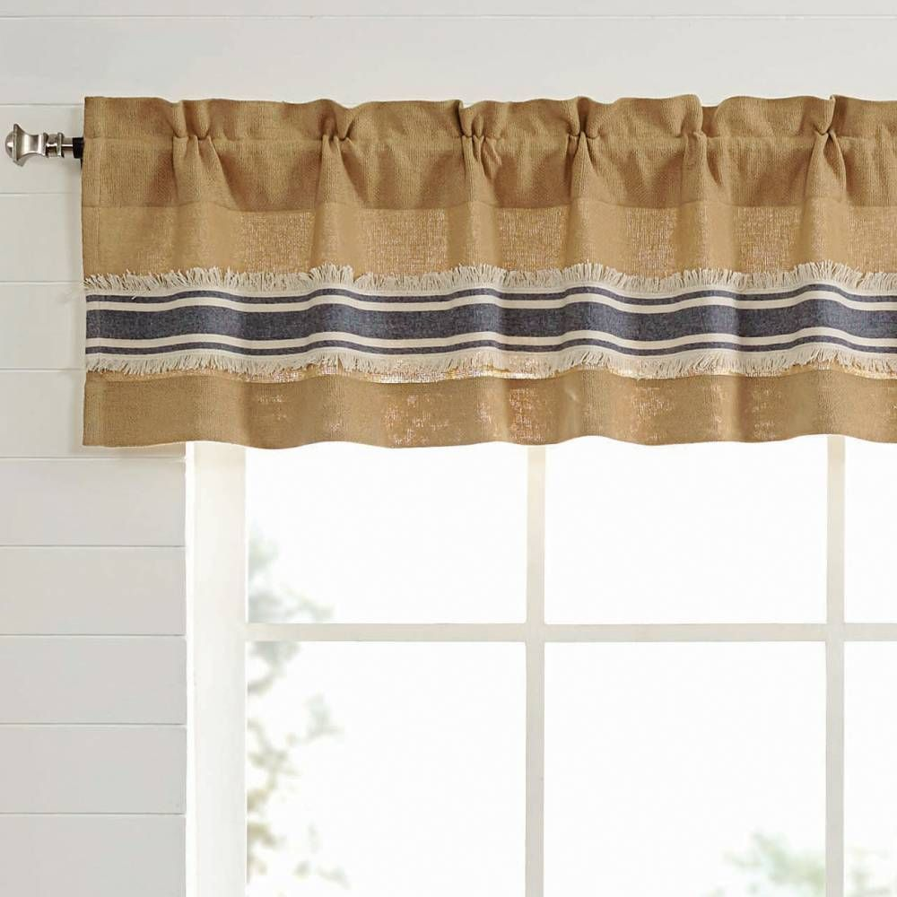 Vhc Brands Mill Creek Lined Valance Curtain 72 Curtains Farmhouse Curtains Rustic Kitchen Decor