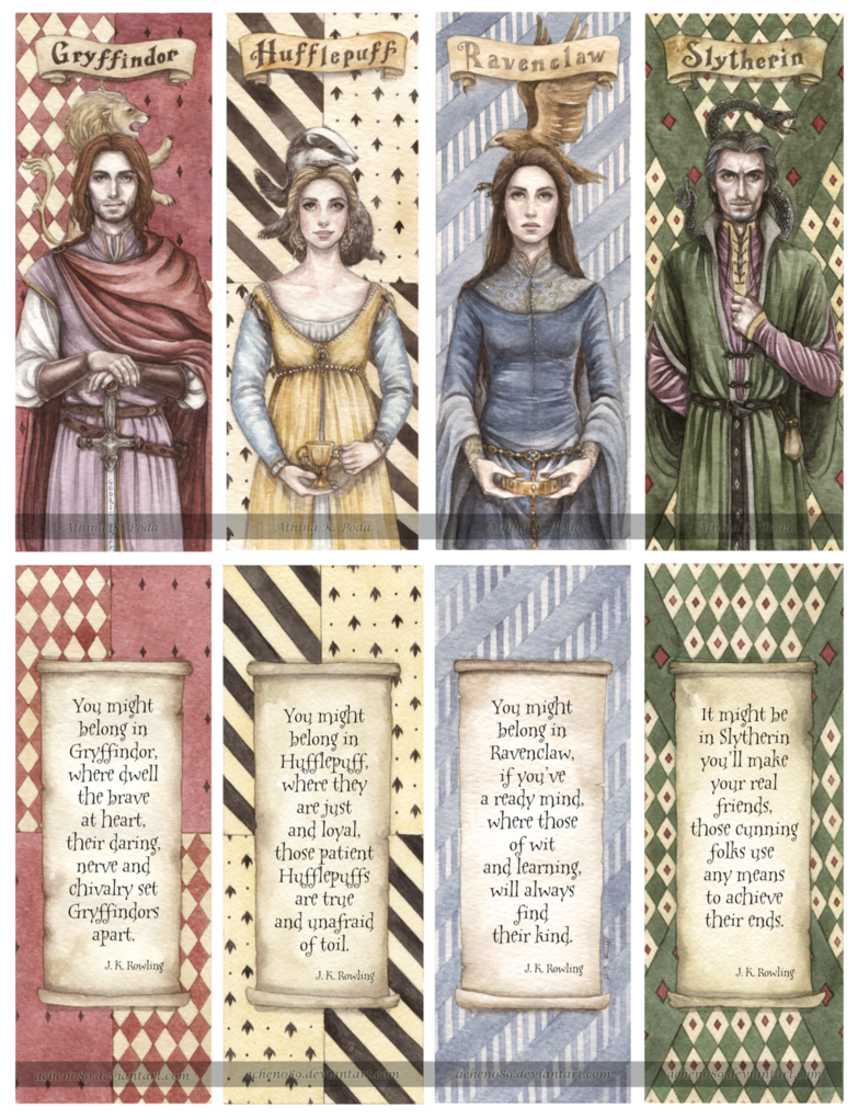 Hogwarts Founders Double Sided Bookmarks Hogwarts Founders Harry Potter Wallpaper Harry Potter Pictures