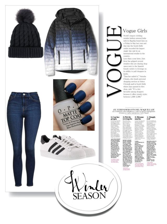 """""""Untitled #18"""" by dariana-achim on Polyvore featuring Gap, Topshop, adidas and OPI"""