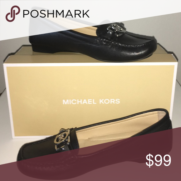 NEW Michael Kors Leather Loafers Charm