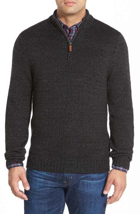 6b450789 Nordstrom Men's Shop Quarter Zip Mock Neck Sweater | Stitch Fix Men ...