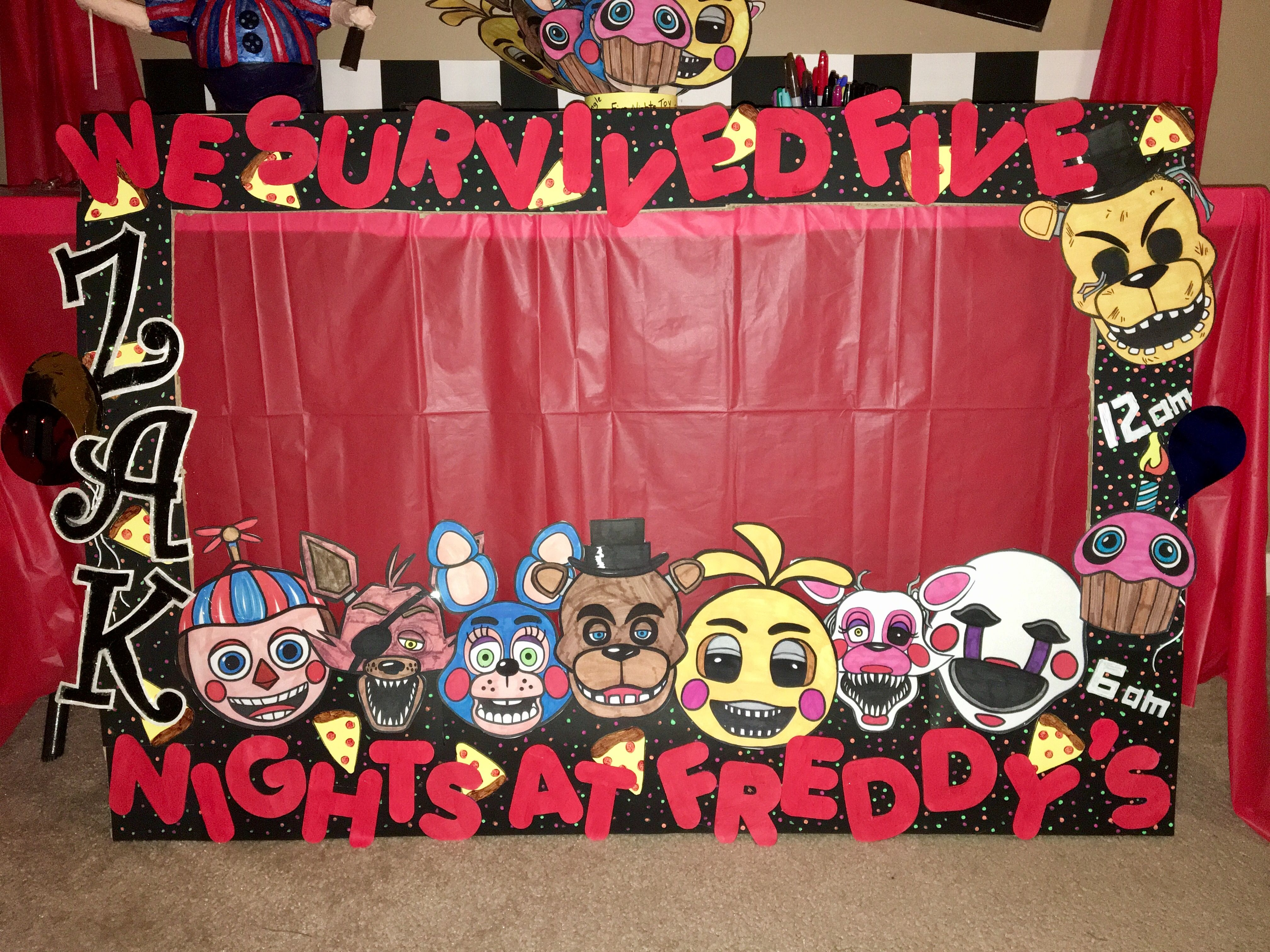 Ideas five nights at freddy party - Fnaf Birthday Photo Frame Made Out Of Cardboard