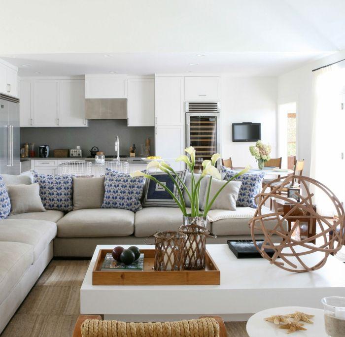 einrichtungsbeispiele maritime deko krake blau wohnzimmer, Modern Dekoo