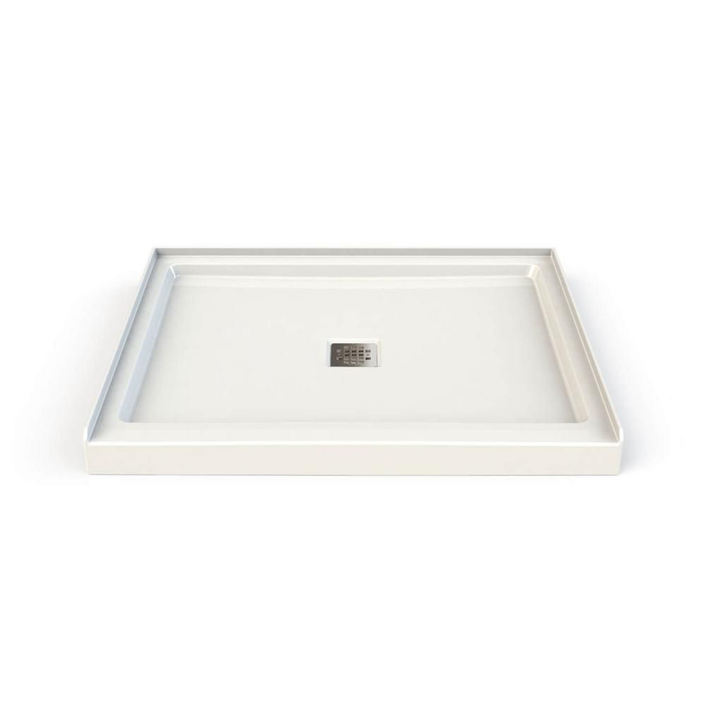 Maax Hana 34 In X 42 In Single Threshold Shower Base In White