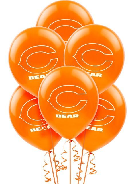 Chicago Bears Balloons 12in 6ct