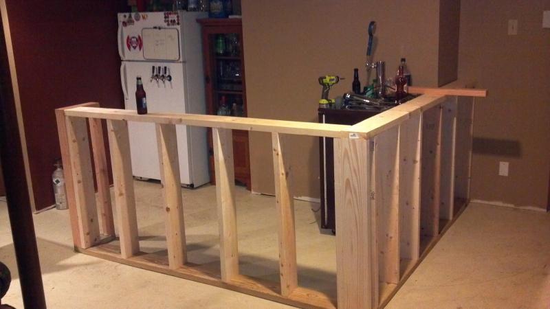 Basement Bar Build Home Brew Forums Diy Home Bar Framing A Basement Basement Bar Designs