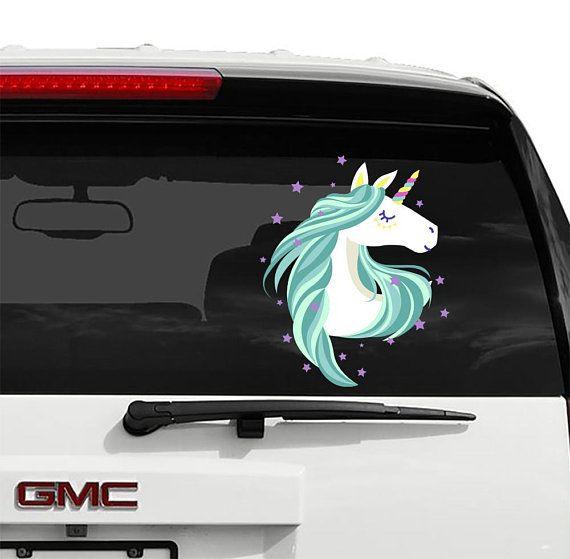 Unicorn decal unicorn car decals car bumper sticker car decal unicorn vinyl