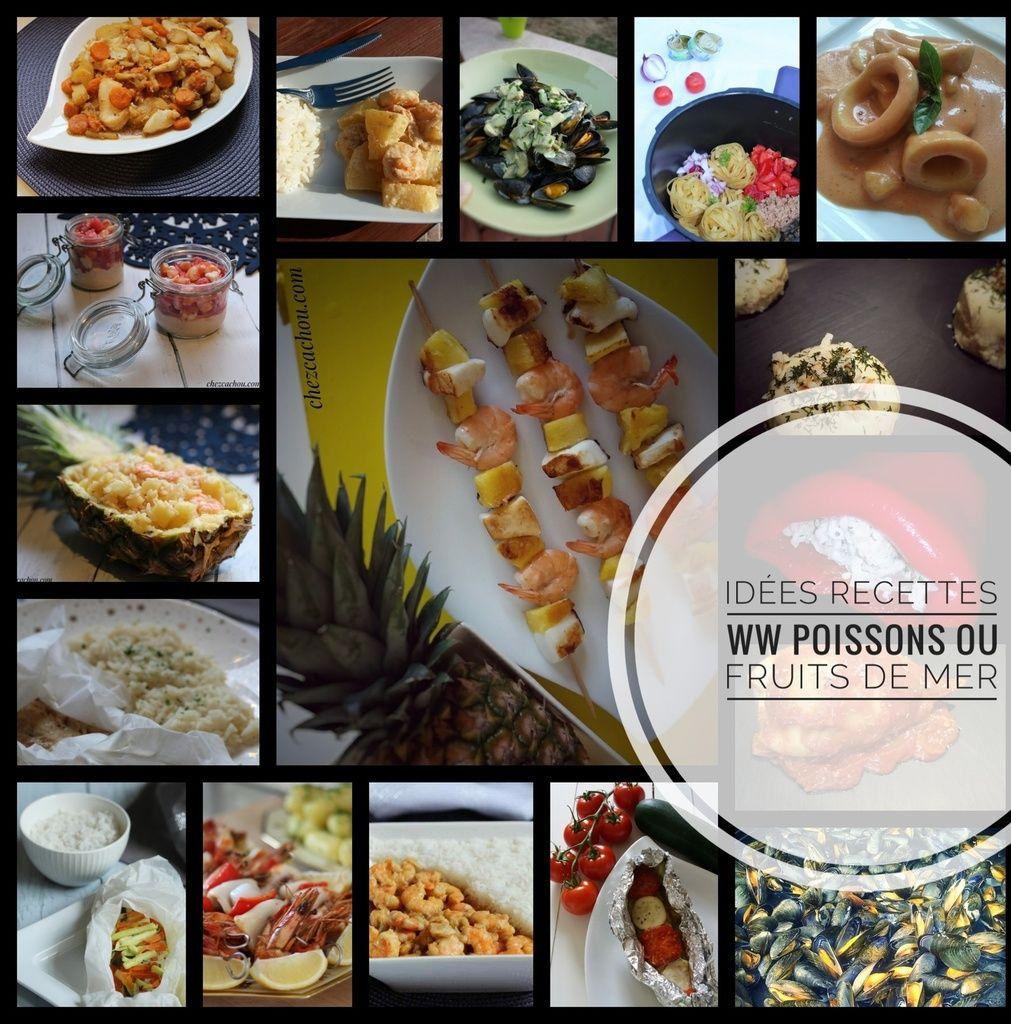 Idées recettes Weight Watchers à base de poissons ou fruits de mer