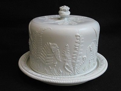 1860\'s Dudson Jasperware Fern Cheese Dome with Stand | Ferns ...