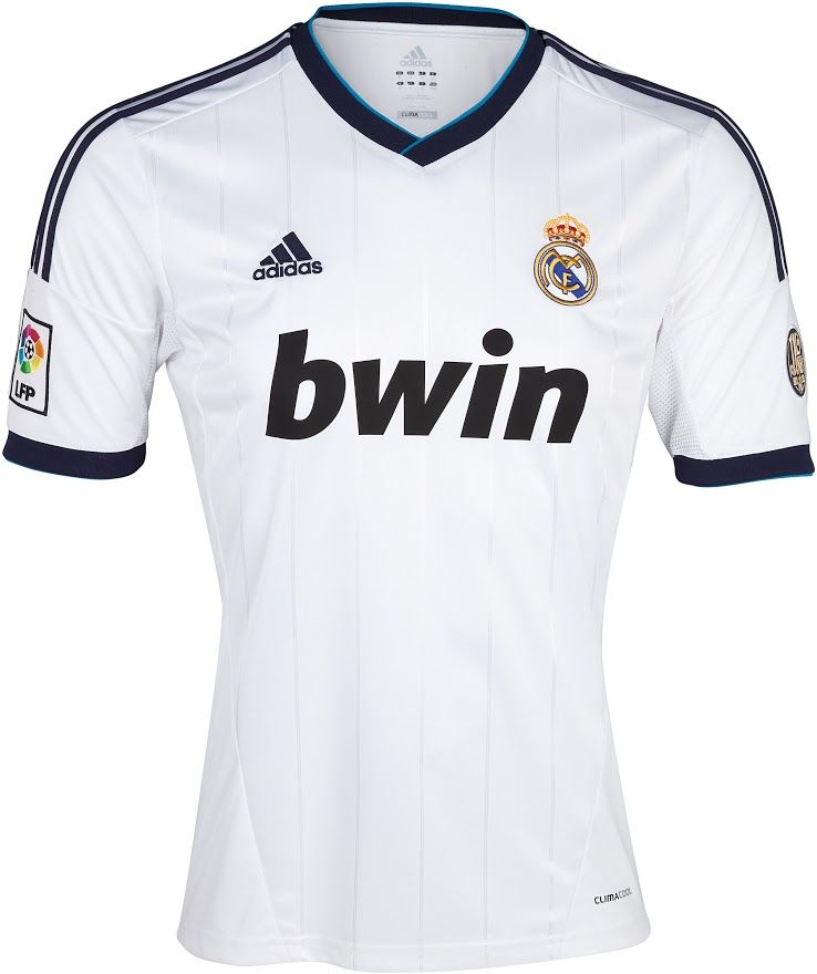 Real Madrid 12 13 Kits Officially Unveiled Real Madrid Home Kit Real Madrid Soccer Jersey