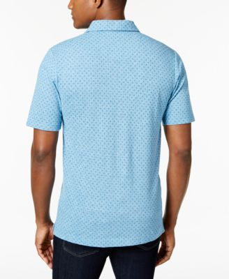 Weatherproof Vintage Men's Vector Pique Polo, Only at Macy's - Blue M