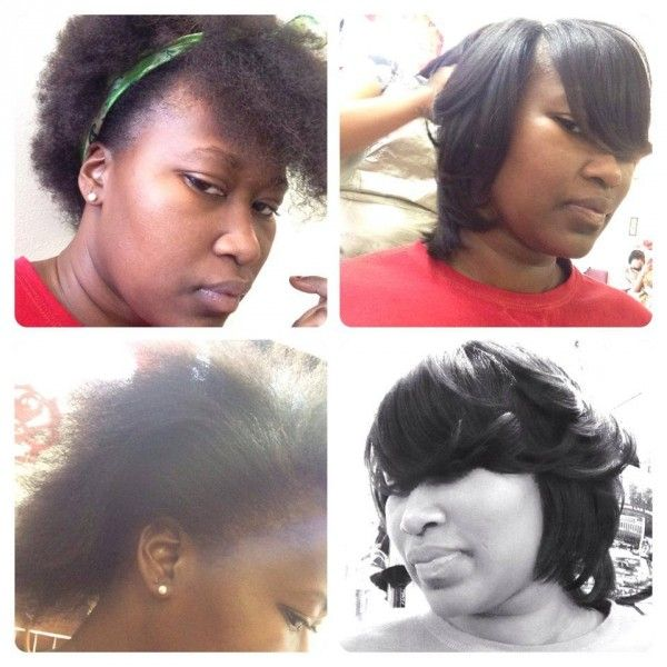 Yvonnes flat ironed natural hair as stated by the lady ...