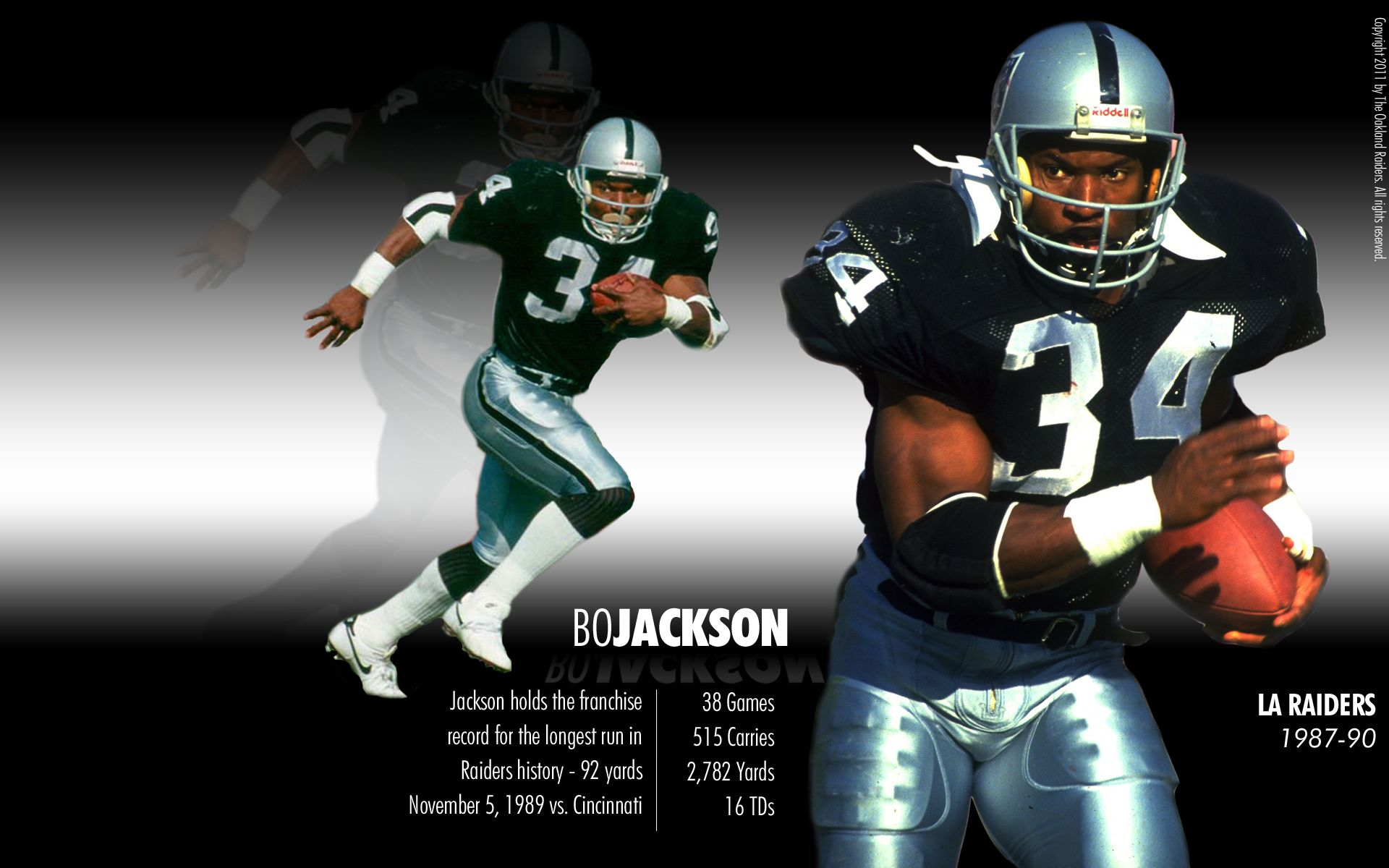 Bo Knows Bo Jackson Oakland Raiders Oakland Raiders Wallpapers