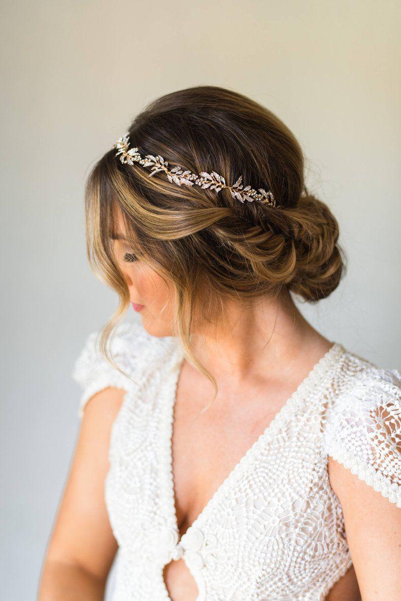 Bridal Wreath Bridal Hair Vine Bridal Headband Wedding Headpiece Crystal Headband Leaf Headband Branch Hair Vine Bridal Crown Tiara #187 #crowntiara