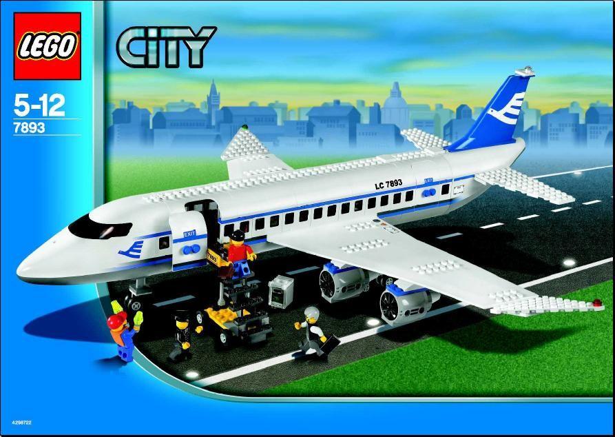 city passenger plane lego