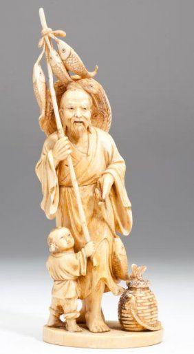 JAPANESE OKIMONO   Japanese Ivory Okimono : Lot 856