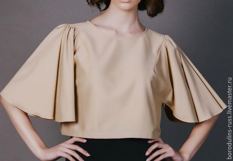 Купить Блуза Б 16-04 - красивая блуза, дизайнерская блуза, стильная блуза