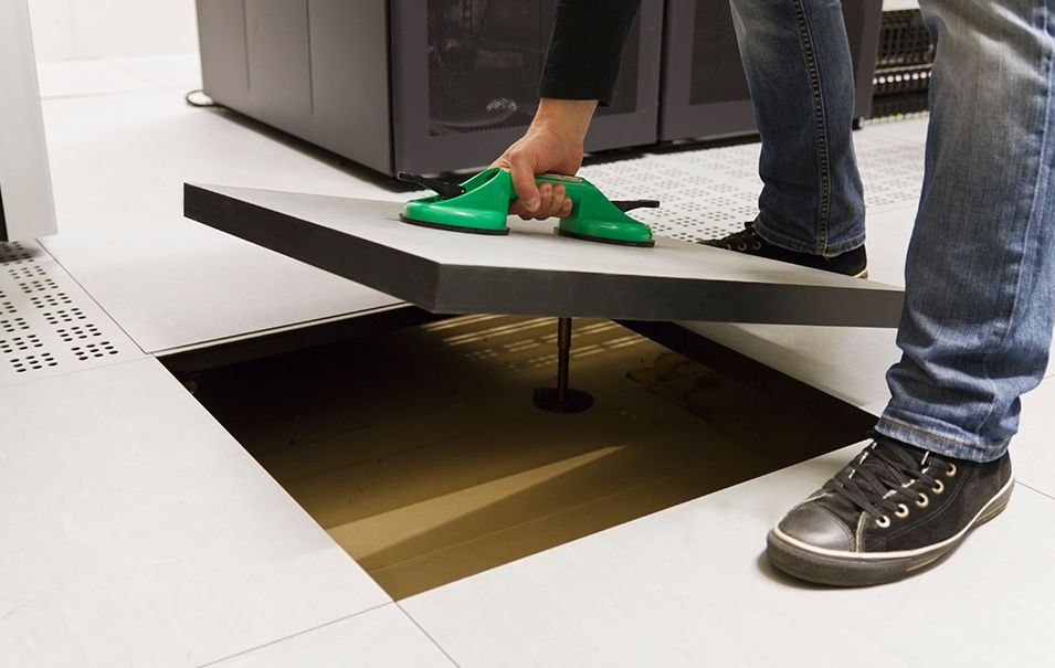 Raised floors systems allow easy access to cables and
