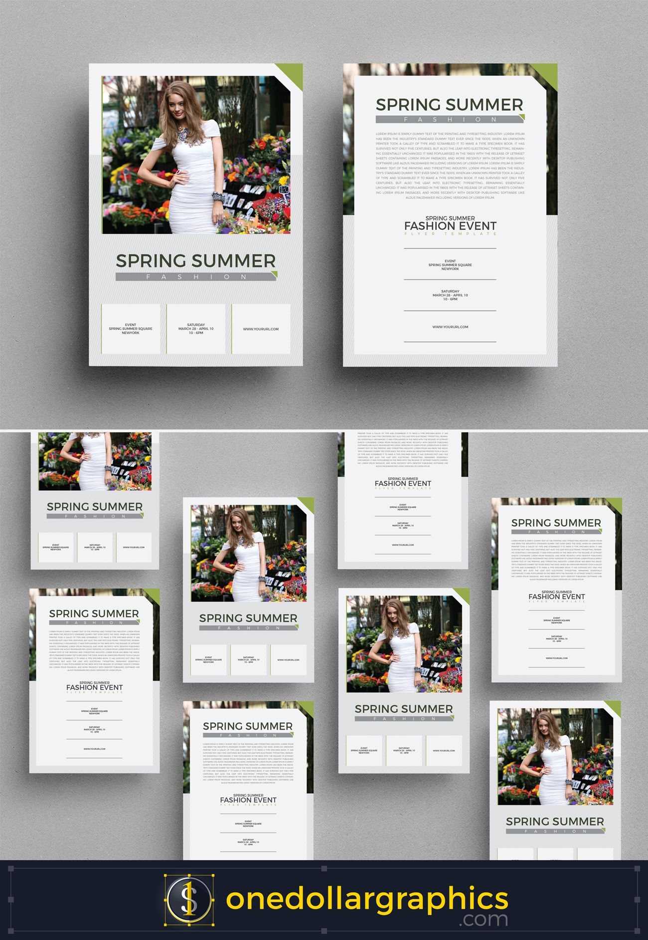 Spring Summer Fashion Event Flyer Template Brochures And Flyers