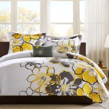Mizone Mackenzie Comforter Set Comforter Sets Yellow And Gray Bedding Bedding Sets Grey and yellow comforter sets