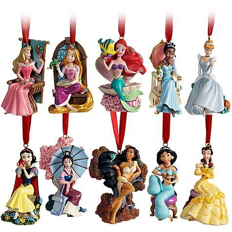 Disney Christmas Tree Little Mermaid Rapunzel Jasmine Mulan ...