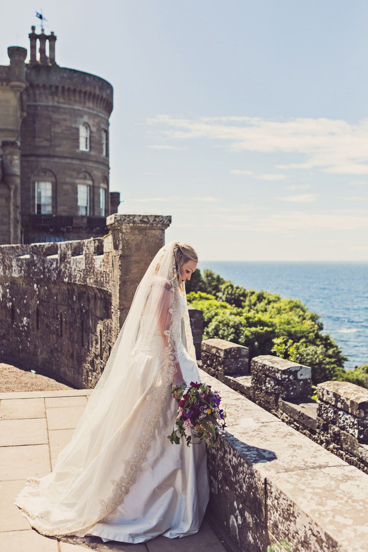 Scottish wedding dresses  Fairytale Scottish Castle Wedding Lindsay u Andrew Terry Fox