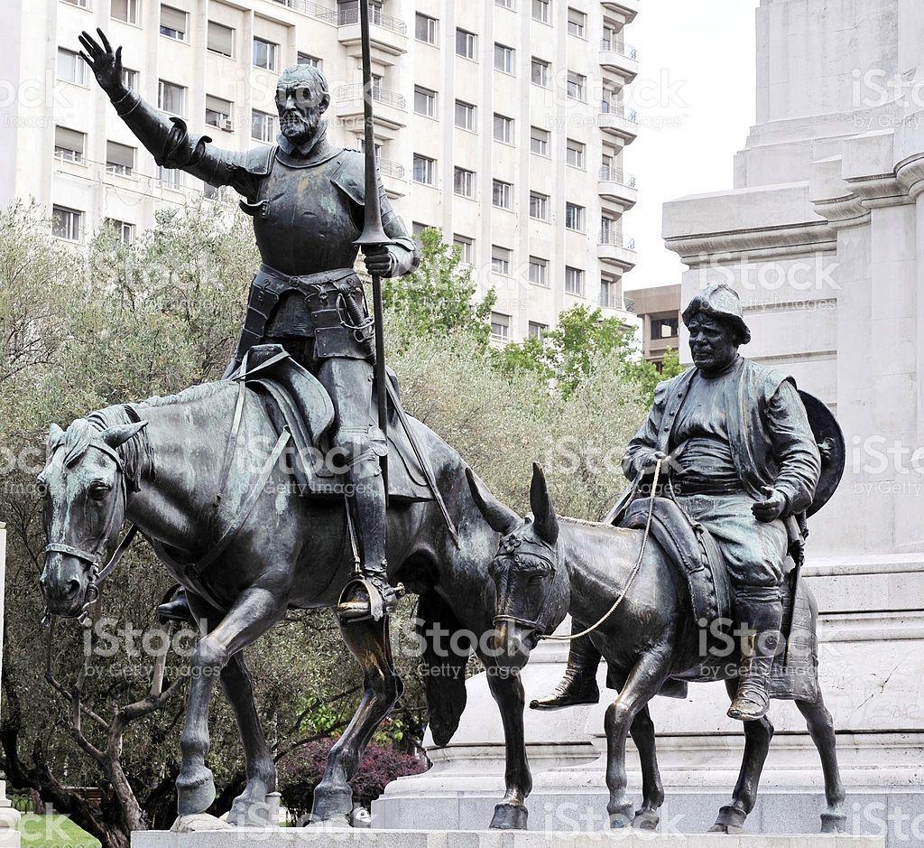 Don Quixote and Sancho Panza royalty-free stock photo   A Arte ...