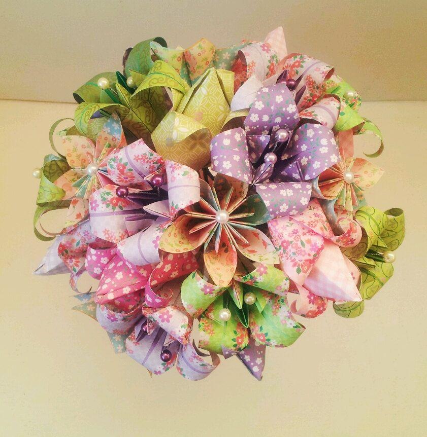 Paper Flower Bouquet Wedding / Anniversary / Valentine\'s Lilac Lime ...