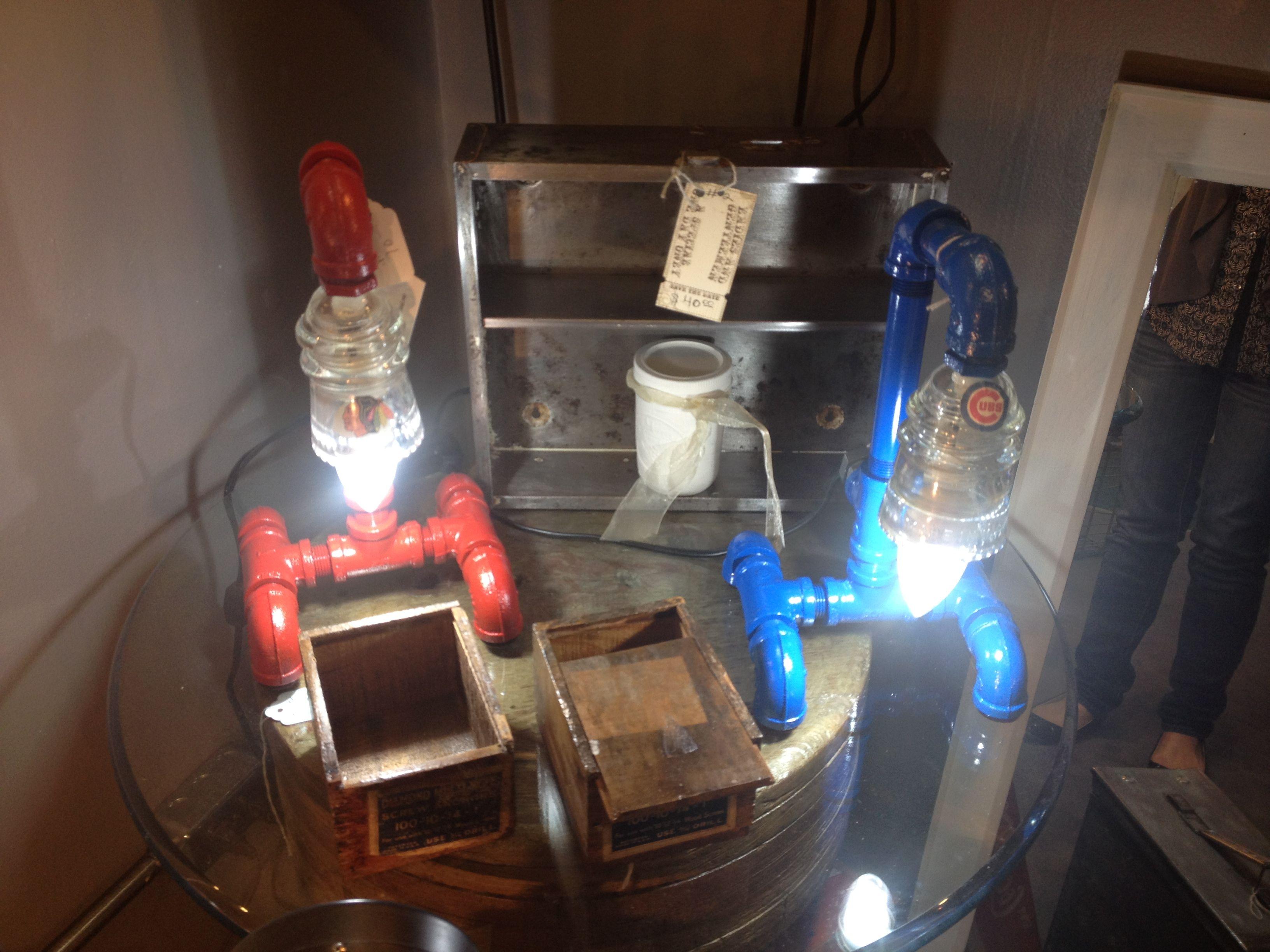 LED Chicago Team pipe / insulator lights
