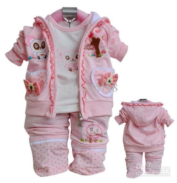 Autumn outfits 3pcs suit newborn girls clothing outerwear   T ...