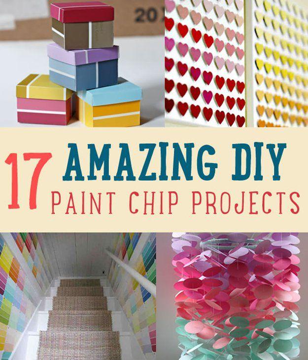 Superb Amazing DIY Paint Chip Project Ideas Amazing Pictures