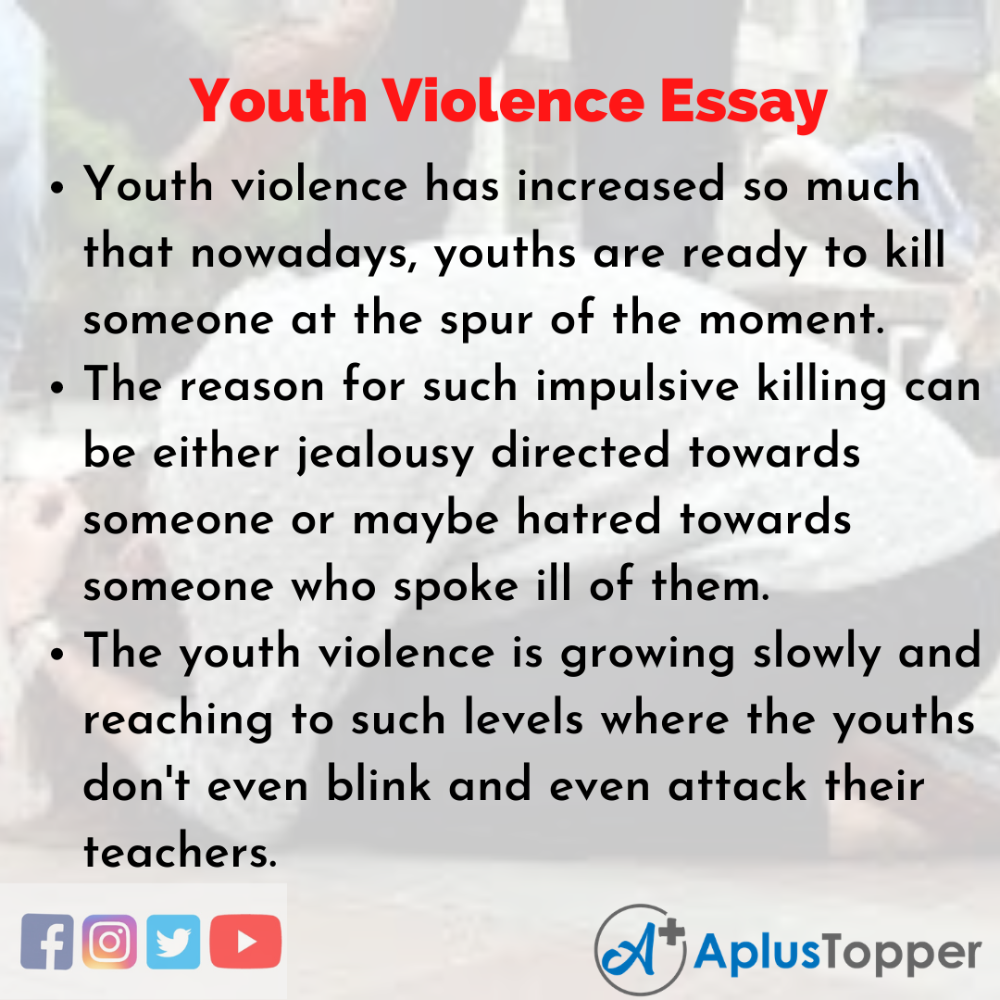 Pin On Youth Violence Essay Crime