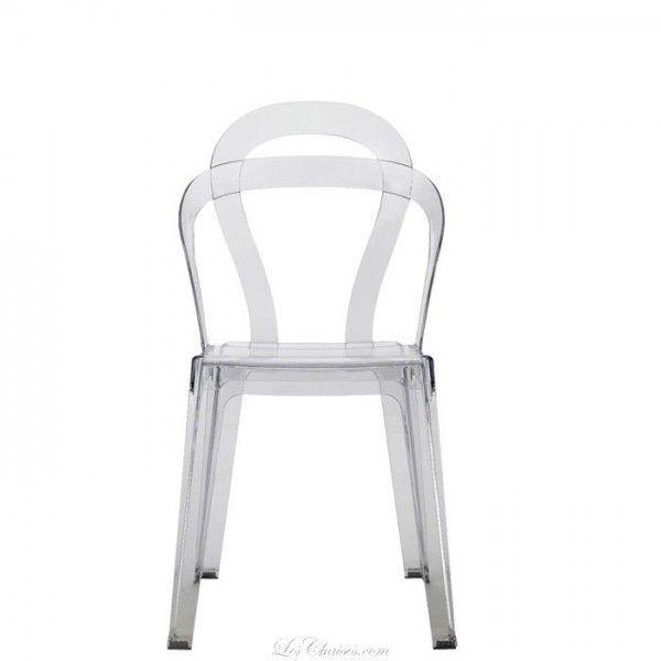 Chaise Transparente Pas Cher Design TITI Par SCAB