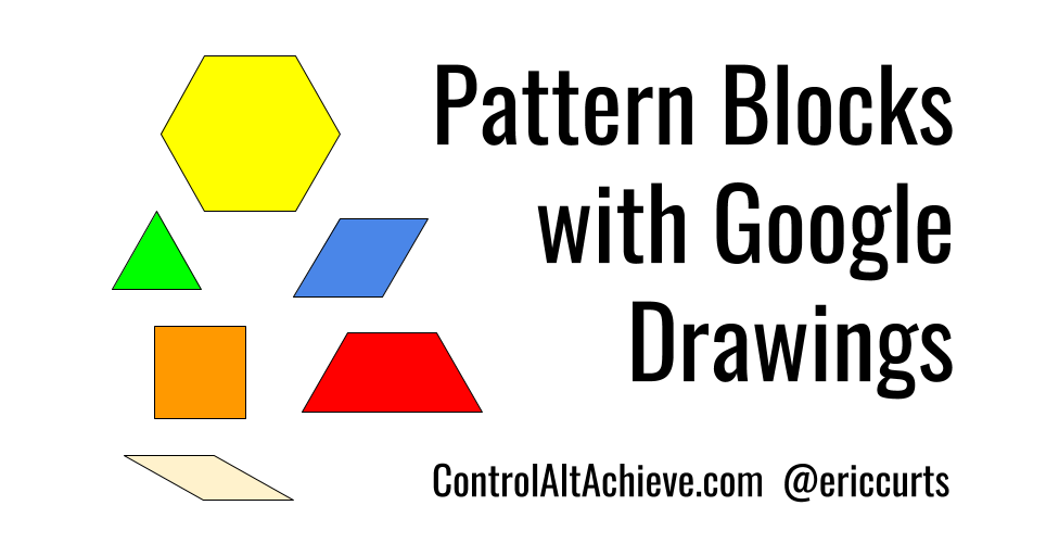 use virtual pattern blocks with this google drawing template to learn about symmetry fractions perimeter tessellations art writing and more