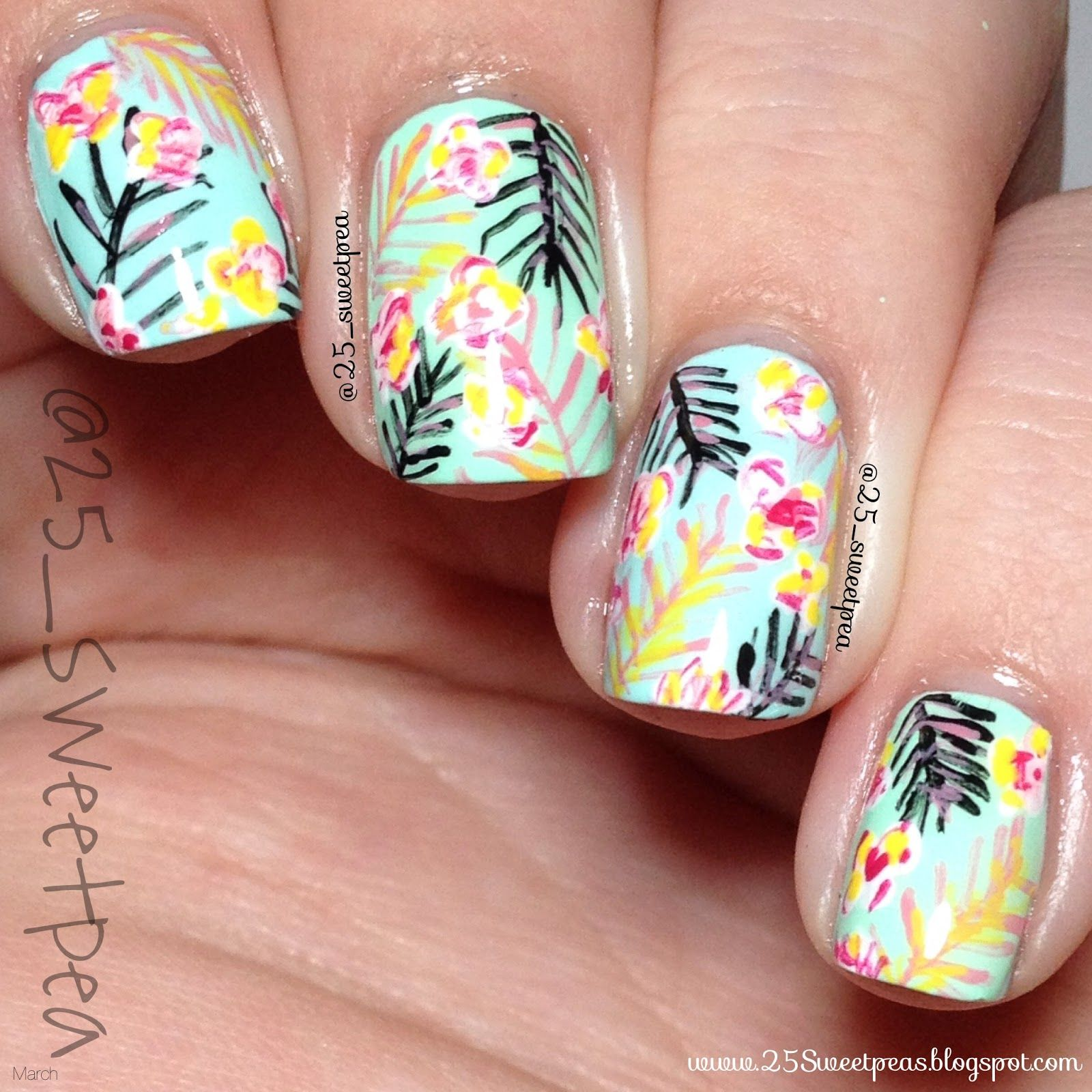 March Nail Artist of the Month: 25_SweetPea! (The Little Canvas ...